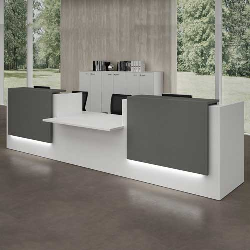 Laminated Reception Table in Lagos Nigeria | Mcgankons Office Furniture