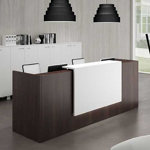 Walnut Reception Table in Lagos Nigeria | Mcgankons Office Furniture