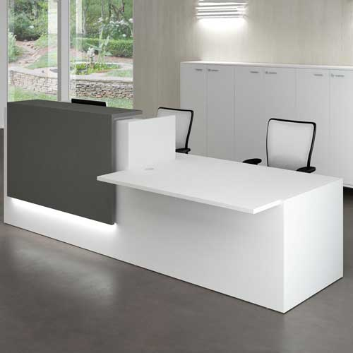 White Reception Table in Lagos Nigeria | Mcgankons Furniture Store