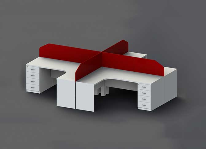 United Workstation Table in Lagos Nigeria | Mcgankons Office Furniture