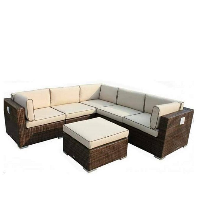 Rattan L Shape Sofa in Lagos Nigeria | Mcgankons Furniture
