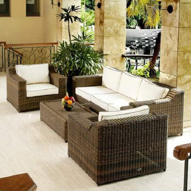 Rattan Seven Seater Sofa in Lagos Nigeria | Mcgankons Furniture