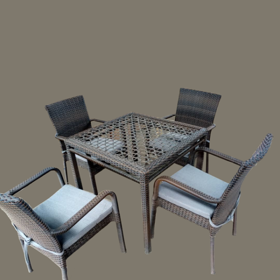 MFR7 Rattan Chair Table