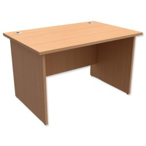 front view of office desk