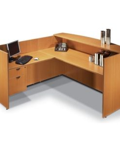 Left Return Reception Desk in Lagos Nigeria | Mcgankons Furniture Store