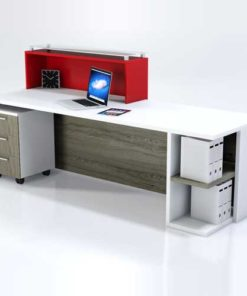 Frosted Glass Reception Table in Lagos Nigeria | Mcgankons Furniture
