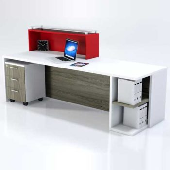 Frosted Glass Reception Table in Lagos Nigeria   Mcgankons Furniture