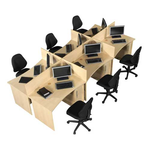 HDF Workstation Table in Lagos Nigeria   Mcgankons Office Furniture
