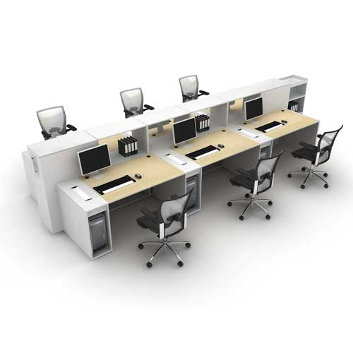 Linear Workstation Table in Lagos Nigeria | Mcgankons Office Furniture