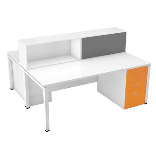 Yellow Workstation Table in Lagos Nigeria | Mcgankons Office Furniture