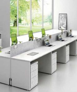 White Workstation Table in Lagos Nigeria   Mcgankons Office Furniture