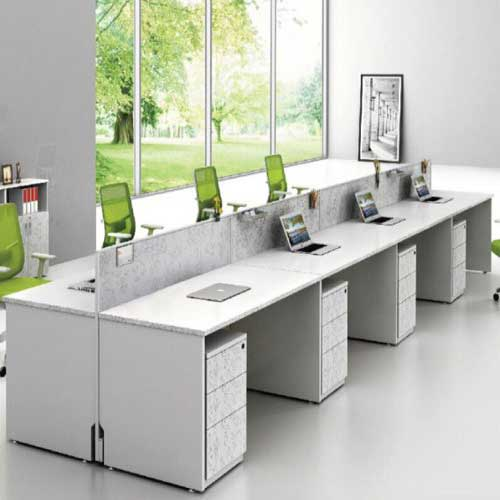White Workstation Table in Lagos Nigeria | Mcgankons Office Furniture