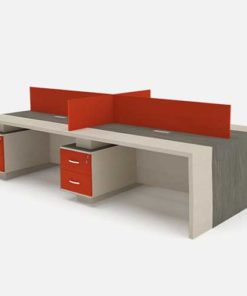 Orange Workstation Table in Lagos Nigeria | Mcgankons Office Furniture