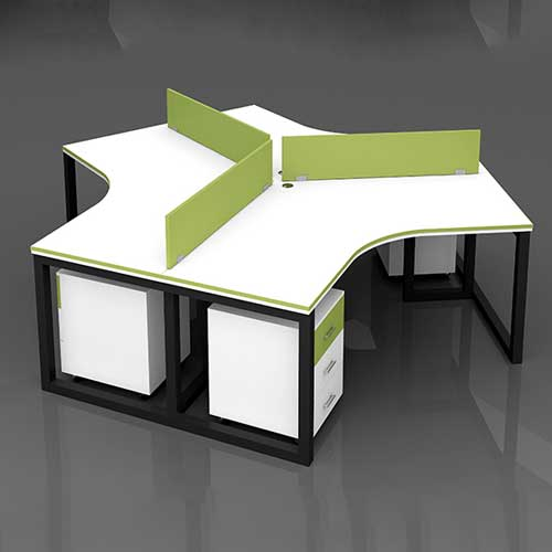Metal Leg Workstation Table in Lagos Nigeria | Mcgankons Furniture