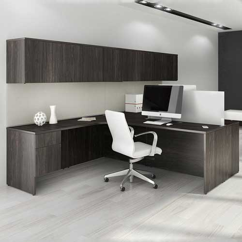 L Shaped Workstation Table in Lagos Nigeria | Mcgankons Furniture Store