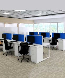 Long Workstation Table in Lagos Nigeria | Mcgankons Furniture Store