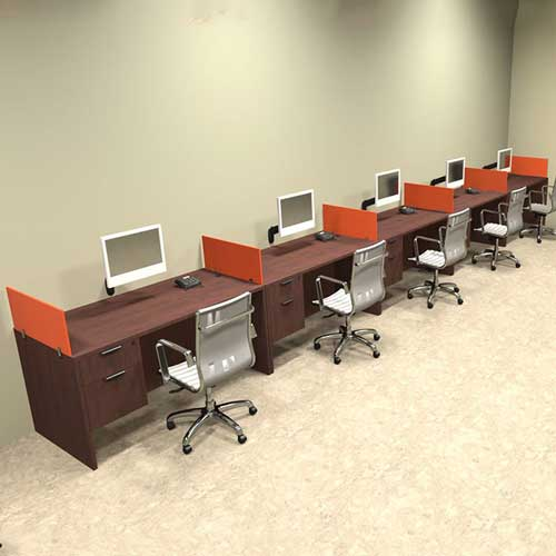 Five Seater Workstation Table in Lagos Nigeria | Mcgankons Furniture Store