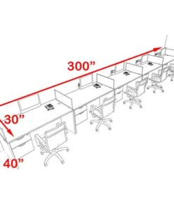 Five Seater Workstation Table 3