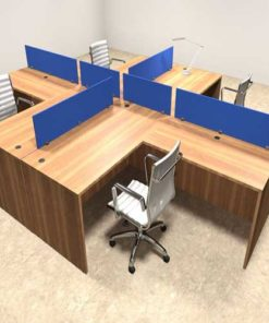 Blue Workstation Table in Lagos Nigeria | Mcgankons Office Furniture