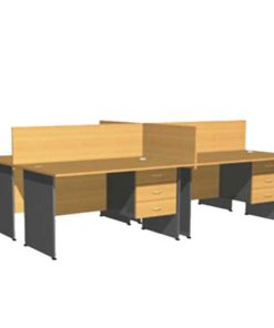 Full Partition Workstation Table in Lagos Nigeria | Mcgankons Office Furniture