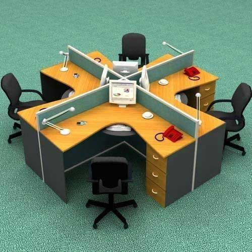 Four Seater Workstation Table in Lagos Nigeria | Mcgankons Furniture