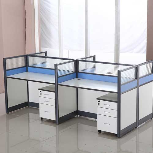 Glass Partition Workstation Table in Lagos Nigeria | Mcgankons Furniture