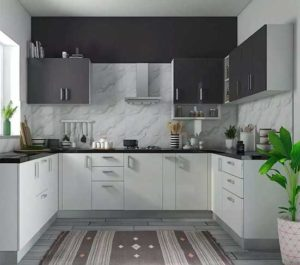 Dual Colour Kitchen Cabinet