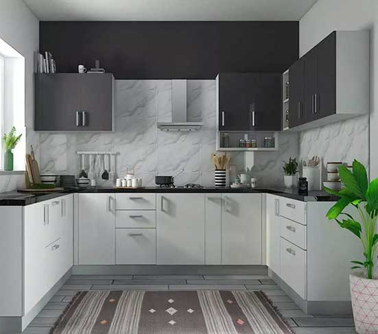 Dual Colour Kitchen Cabinet in Lagos Nigeria | Mcgankons Furniture Store