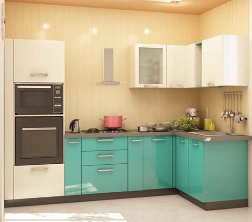 Dual Oven Kitchen Cabinet