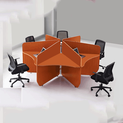 Small Five Seater Workstation Table