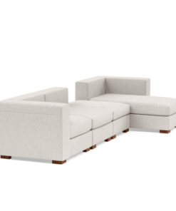 Chaise Modular Sofa with Ottoman in Lagos Nigeria | side